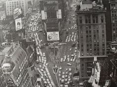 TIMES SQUARE 1953 AERIAL VIEW Vintage New York City