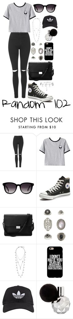 """Random 102"" by megan-walz21 ❤ liked on Polyvore featuring Topshop, Chicnova Fashion, Fendi, Converse, Aspinal of London, Lucky Brand, adidas and New Look"