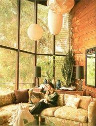 70s, lighting for living room