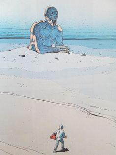 Album Chroniques Métalliques, Moebius, disponible sur entre-image! Illustrations, Illustration Art, Moebius Art, Jean Giraud, Ligne Claire, Environment Concept Art, Art Graphique, Weird Art, Sci Fi Art