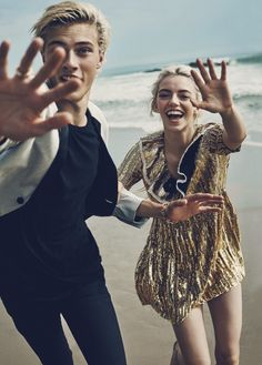 Pyper America & Lucky Blue Smith by Beau Grealy for Marie Claire US January 2016