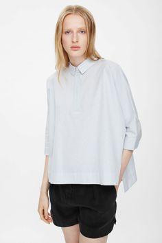 COS | Checked tunic shirt