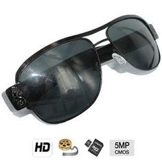 Caméra cachée couleur avec DVR dans une Lunettes de soleil HD - CMOS 5 mégapixels - Jusqu'à 32 Go