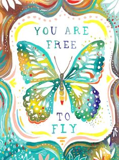 Oopsy Daisy So spread your wings, and experience life! Katie Daisy inspires with whimsical words and fanciful typography in pleasing color palettes. Bring cheer to your walls with her delightful wall art decor. Typographie Inspiration, Top Imagem, Butterfly Quotes, Butterfly Art, Butterfly Images, Butterfly Watercolor, Butterfly Colors, Butterfly Painting, Butterfly Crafts