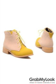93f9b2f195d2 Suede Color Lace Up Rock Funky Military Ankle Flat Boots Flat Boots