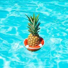 poolside fun from artist Paloma Rincon's  Heatwave series 🍍#pool #bzyoo #poolside #summer #pineapple #blue #style #design
