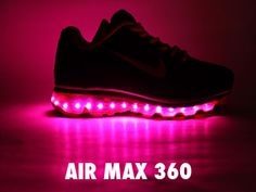 Nike Air Max shoes that light up when you walk!!!! WHAT I WANT THESE. I have been looking for light up shoes for adults. Why should kids have all the fun.
