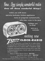 Zenith Clock-Radio 1950 Ad Picture