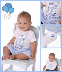Boys 1st Birthday Blue Gingham Number Cupcake Shirt Or Onesie