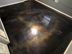 Metallic Epoxy Floor Coatings Epoxy galaxy floor in this offfice/game floor Laminate Flooring - Ever Epoxy Garage Floor Paint, Epoxy Floor Basement, Basement Bathroom, Home Design, Floor Design, Design Ideas, Ikea Baby Nursery, Metallic Epoxy Floor, Concrete Floors