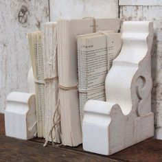 Each distressed corbel is a French inspired white piece that is beautiful vintage decor. Use these as a floating wall shelf to display and show off all your favorite pieces. For more visit, Decor Steals