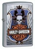 Harley Davidson Motorcycles full color design with shield and skull motif