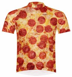 Primal Wear Pizza Cycling Jersey Mens short sleeve bicycle bike with DeFeet  sox 3d258da58