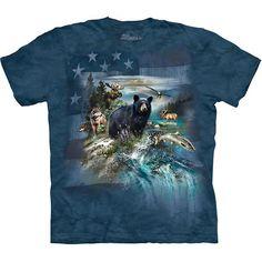 The Mountain PATRIOTIC NORTH AMERICAN COLLAGE T-Shirt S-3XL USA Flag Tee NEW! #usa #america #patriotic #tshirt