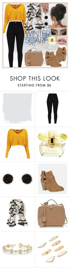 """""""💛🖤☁️🍂"""" by sbeidy ❤ liked on Polyvore featuring Boohoo, Humble Chic, Avenue, Forever 21, Noir Jewelry, school, yellow, college, escuela and winterscarf"""