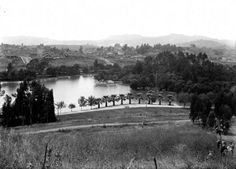 1911 view of Echo Park, looking northwest toward Hollywood. Courtesy of the Title Insurance and Trust, and C.C. Pierce Photography Collection, USC Libraries.