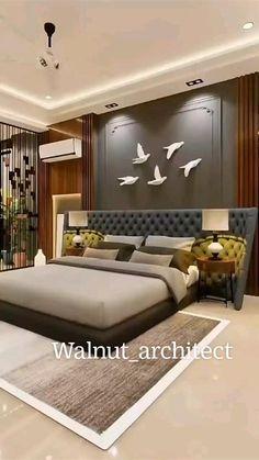 Modern Luxury Bedroom, Luxury Bedroom Design, Bedroom Furniture Design, Home Room Design, Master Bedroom Design, Luxurious Bedrooms, Luxury Living, Home Interior Design, Living Room Interior