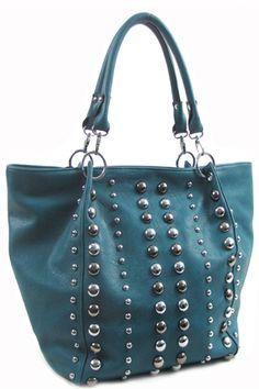 Rhinestone handbag ~ Blue  $56