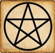 Pentagrama - Símbolos celtas - Es una estrella de cinco puntas con asociaciones mágicas y símbólicas que proviene de la antigua Grecia y Babilonia. Para los celtas representaba el conocimiento divino, aunque se le han dado multiples significados en los que influye incluso la colocación de sus puntas.