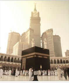 Mecca (Makkah), Saudi Arabia. The Abraj Al-Bait Towers (aka Mecca Royal Hotel Clock Tower) located few metres away from the world's largest mosque and Islam's most sacred site, the Masjid al-Haram.