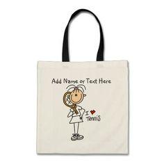 Customized Girl I Love Tennis  Tote  Bag
