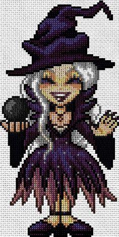 Hallowee en punto de cruz www.nacaranta.com