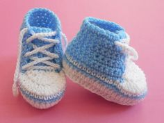 Free pattern :) Baby Converse Booties   FaveCrafts.com