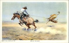 Cowboys Charles M Russell End of The Rope