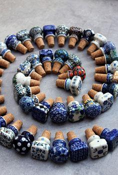 Handmade Polish Pottery corks from ELIMAshop.cz . cork . ceramic . stoneware . Bunzlauer keramik . Artystyczna . 食器ポーランド . ポーランドの陶器 . ボレスワヴィエツ陶器 .