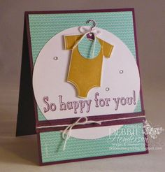 """Control Freaks Blog Hop for May 2014. Our theme this month is """"New Catalog Sneak Peeks"""".  Stampin' Up! Something for Baby. Debbie Henderson, Debbie's Designs."""