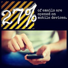 27% of emails are opened on mobile devices