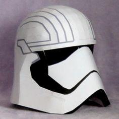 Star Wars Papercraft: Captain Phasma Helmet | Tektonten Papercraft
