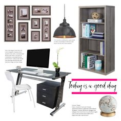 """""""Office Hours"""" by pure-vnom ❤ liked on Polyvore featuring interior, interiors, interior design, home, home decor, interior decorating, Monarch, Bellerby & Co and NuCasa"""