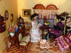 Ladies parlor for high-tea, miniature room I made.