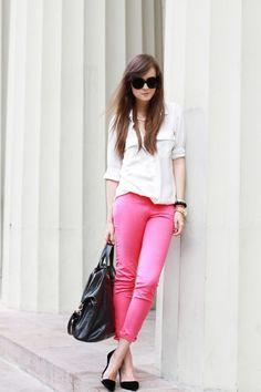 rock hot pink