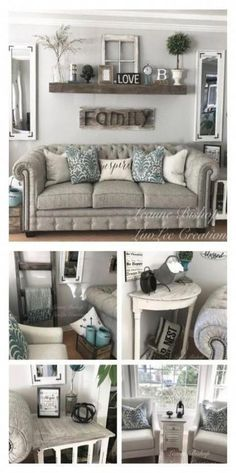 Farmhouse living room wall decor behind couch 28 ideas for 2019 #farmhouse #wall #roomdecor #livingroom #decor