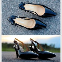 Pocobellos sling-back patent leather. Size 33,34 35