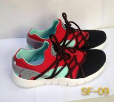 official photos 7d026 ab6f5 WMNS Nike Air Huarache NM Black Bright Crimson Silver Tropical Twist