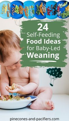 BLW and self-feeding baby food ideas! Wonderig where to start with your baby on solid foods? I'm sharing 24 meal ideas based on what I fed my baby at 8 months old. #blw #babyledweaning #babyfood… More