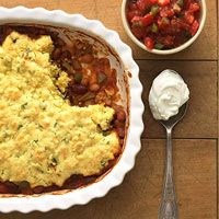 Two-Bean Tamale Pie: awesome, hearty vegetarian main dish