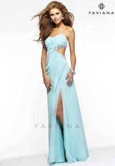 Faviana Dress 7122 at the Prom Dress Shop