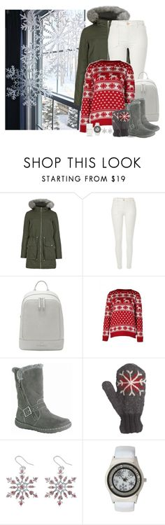 """""""Snowflake time"""" by molly2222 ❤ liked on Polyvore featuring M&S Collection, River Island, Vince Camuto, Pixie, Laundromat, Nails Inc. and snowflakes"""