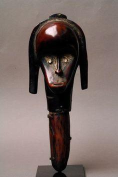 Africa   Reliquary head; nlo byeri. Fang people of Gabon   Wood   Image ©Michel Renaudeau