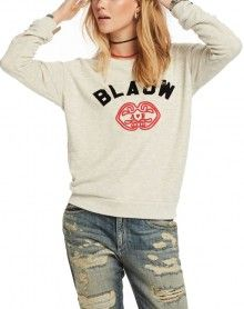 Scotch&Soda světle šedá mikina Blauw - 1512 Kč Scotch Soda, Graphic Sweatshirt, T Shirt, Sweatshirts, Sweaters, Tops, Women, Fashion, Supreme T Shirt