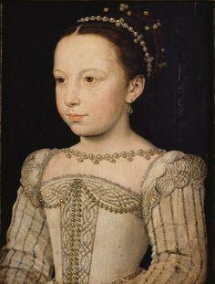 Marguerite de Valois (1553-1615), enfant, fille d'Henri II, d'après François Clouet (~1515-1572)