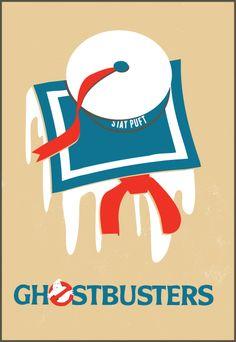 Ghostbusters - Minimalist movie poster design   By: Tim Staszak of Block Club Creative