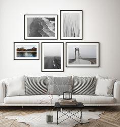 Taulukollaasi harmaan sävyissä Abstract Canvas, Acrylic Painting Canvas, Minimal Art, New York Subway, New York Photos, Wall Decor, Wall Art, Vintage Pictures, Black And White Photography