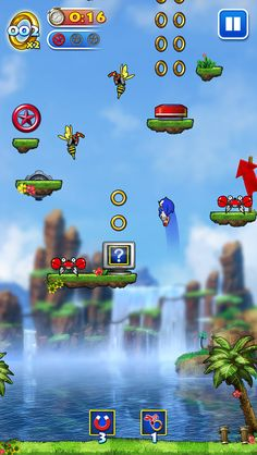 Play as Sonic or his friends leaping through familiar and new Sonic worlds to battle the evil Dr. Eggman, in both fixed Story levels and Arcade infinite modes. • Play as Sonic or his friends, such as Tails & Knuckles • Three different Sonic worlds including the legendary Green Hill Zone • 36 challenging levels in Story Mode • Jump to the highest of heights in the infinite Arcade Mode • Take on Dr. Eggman in exhilarating head-to-head Boss Battles • Earn or buy power ups, characters & m...
