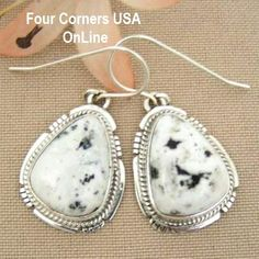 Four Corners USA Online - White Buffalo Turquoise Sterling Silver Earrings by Native American Navajo Kathy Yazzie NAER-1421, $126.00 (http://stores.fourcornersusaonline.com/white-buffalo-turquoise-sterling-silver-earrings-by-native-american-navajo-kathy-yazzie-naer-1421/)