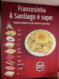 "Traditional ""francesinha"", something you can't miss while is Porto #Portugal"
